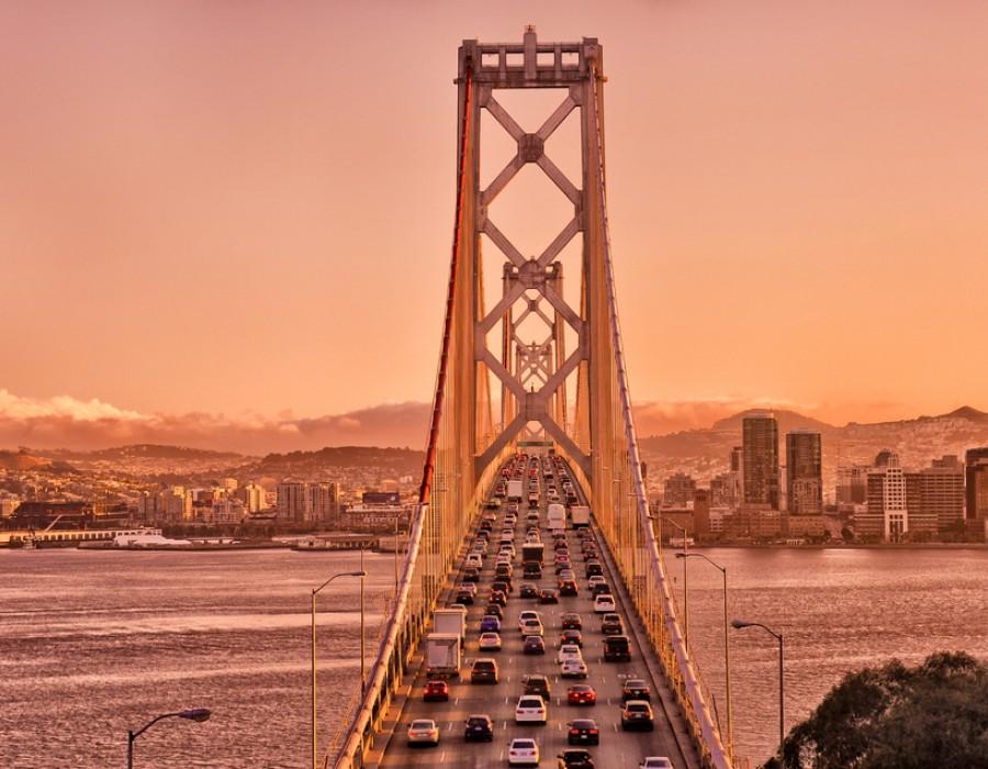 Tour in auto Golden California